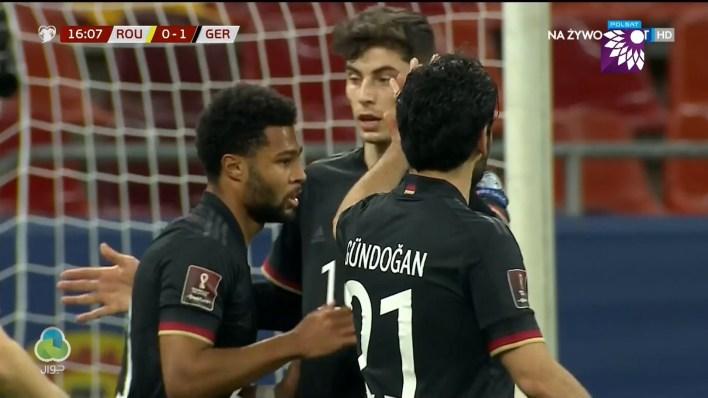 شاهد الهدف الاول ( 1-0 ) لصالح المانيا في شباك رومانيا