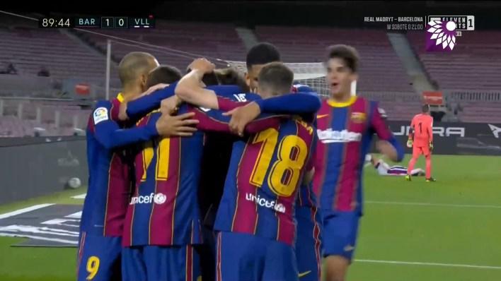شاهد الهدف الأول (1 – 0) لصالح برشلونة في شباك بلد الوليد