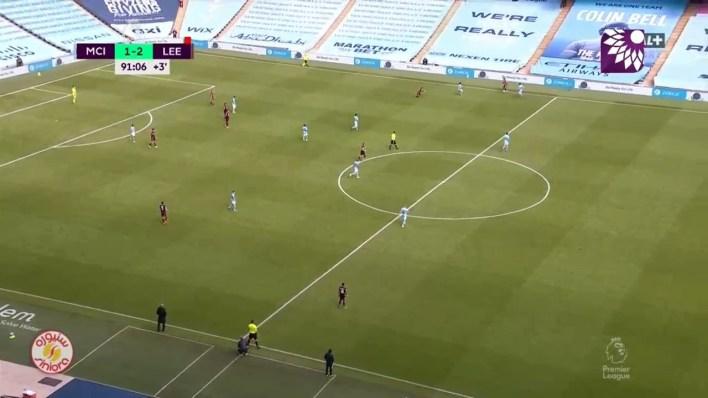 شاهد الهدف الثاني (1 – 2) لصالح ليدز يونايتد في شباك مانشستر سيتي