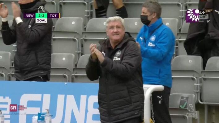 شاهد هدف التعادل (2 – 2) لصالح نيوكاسل يونايتد في شباك توتنهام هوتسبير