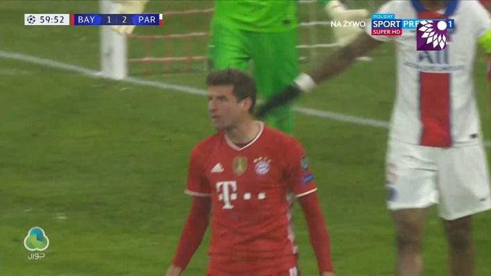 شاهد هدف التعادل (2 – 2) لصالح بايرن ميونيخ في شباك باريس سان جيرمان