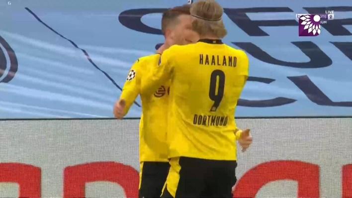 شاهد هدف التعادل ( 1-1 ) لصالح بروسيا دورتموند في شباك مانشستر سيتي