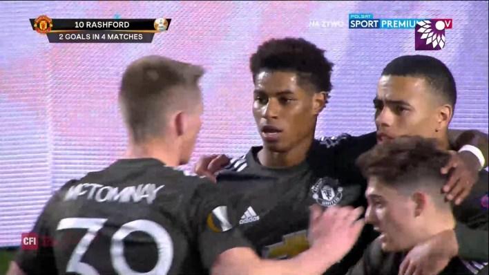 شاهد الهدف الاول ( 1-0 ) لصالح مانشستر يونايتد في شباك غرناطة