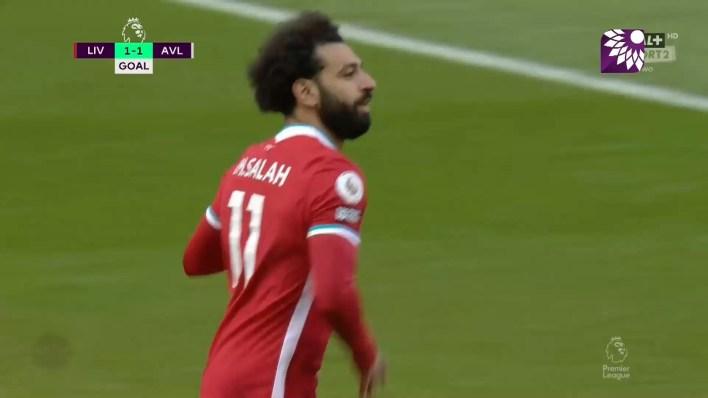 شاهد هدف التعادل ( 1-1 ) لصالح ليفربول في شباك أستون فيلا