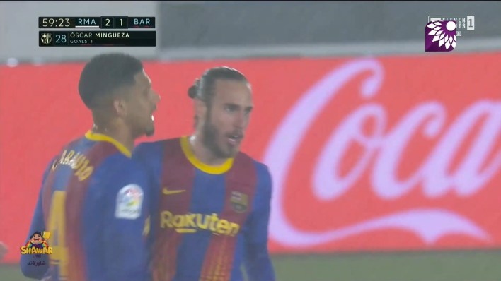 شاهد الهدف الاول ( 2-1 ) لصالح يرشلونة في شباك ريال مدريد