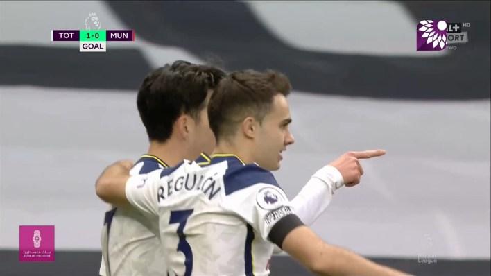 شاهد الهدف الاول ( 1-0 ) لصالح توتنهام في شباك مانشستر يونايتد