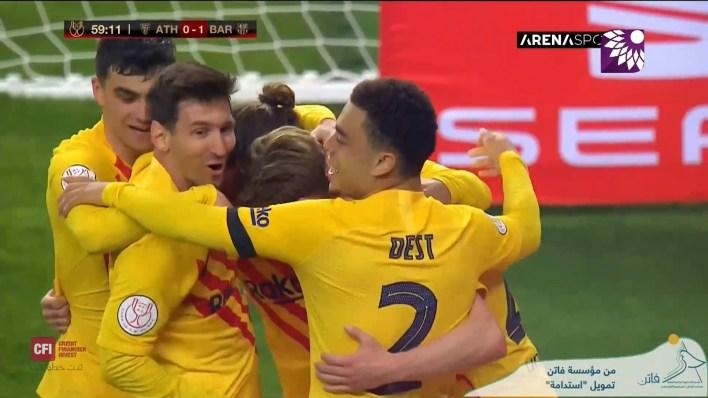 شاهد الهدف الاول (1-0 ) لصالح برشلونة في شباك اتلتيك بلباو