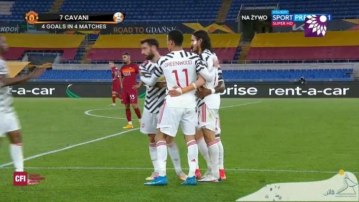 شاهد الهدف الاول ( 1-0 ) لصالح مانشستر يونايتد في شباك روما