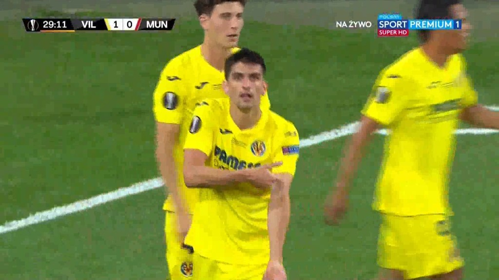شاهد الهدف الاول ( 1-0 ) لصالح فياريال في شباك مانشستر يونايتد