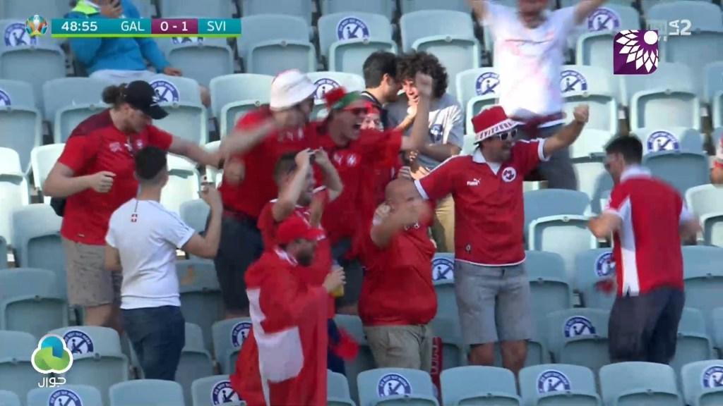 شاهد الهدف الاول (1 – 0) لصالح سويسرا في شباك ويلز