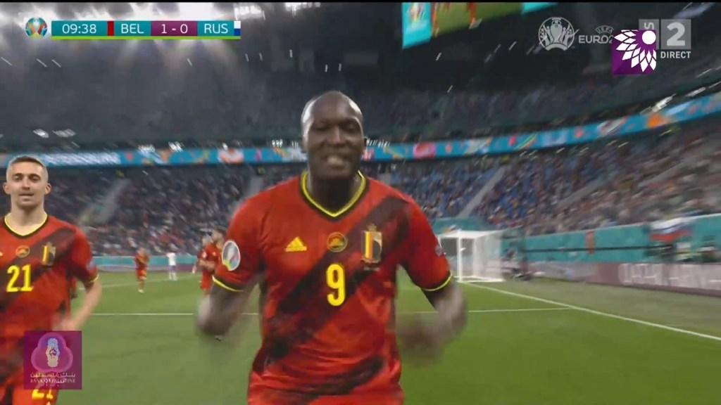 شاهد الهدف الاول ( 1-0 ) لصالح بلجيكا في شباك روسيا
