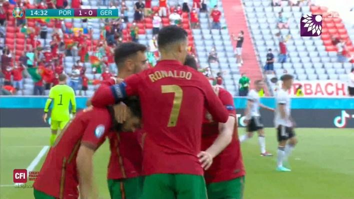 شاهد الهدف الاول (1-0) لصالح البرتغال في شباك المانيا