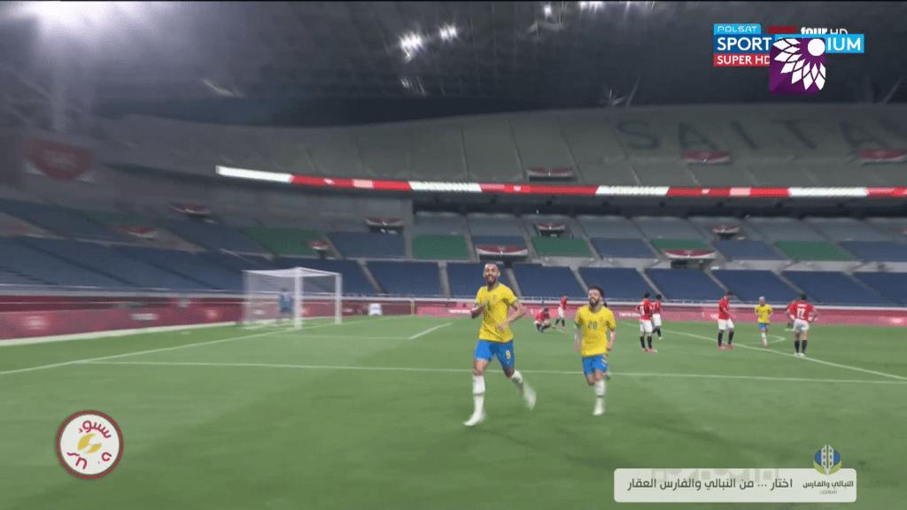 شاهد الهدف الأول (0 – 1) لصالح البرازيل في شباك مصر