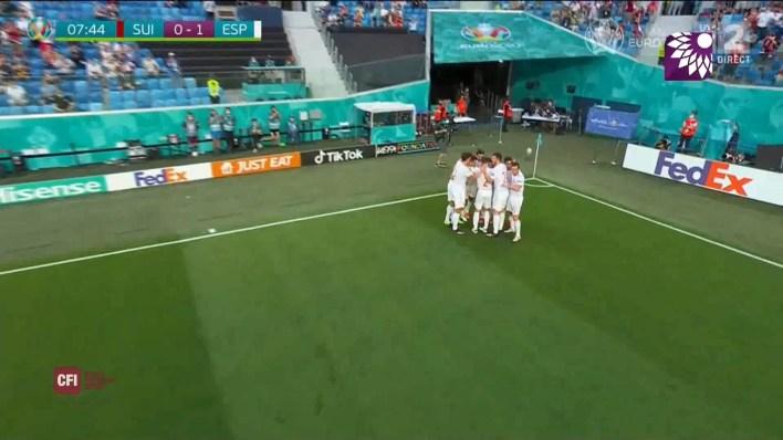شاهد الهدف الاول ( 1-0 ) لصالح اسبانيا في شباك سويسرا