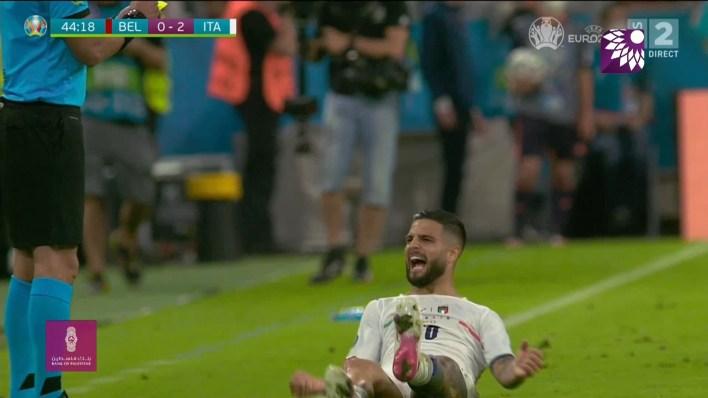 شاهد الهدف الثاني (2-0) لصالح ايطاليا في شباك بلجيكا