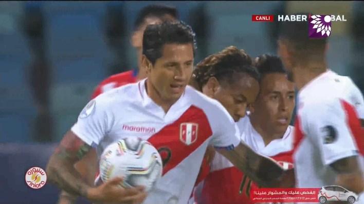 شاهد هدف التعادل (1-1) لصالح بيرو في شباك باراغواي