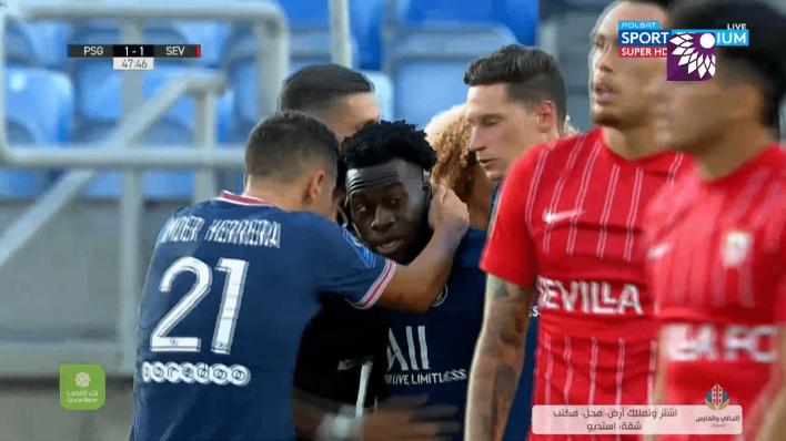 شاهد هدف التعادل ( 1-1 ) لصالح باريس سان جيرمان في شباك اشبيلية
