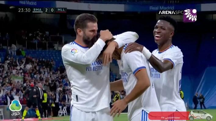 شاهد الهدف الثاني (2-0) لصالح ريال مدريد في شباك ريال مايوركا