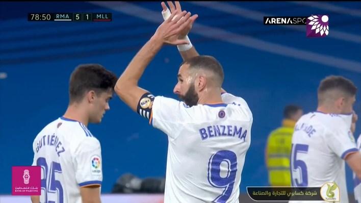 شاهد الهدف الخامس (5-1) لصالح ريال مدريد في شباك ريال مايوركا