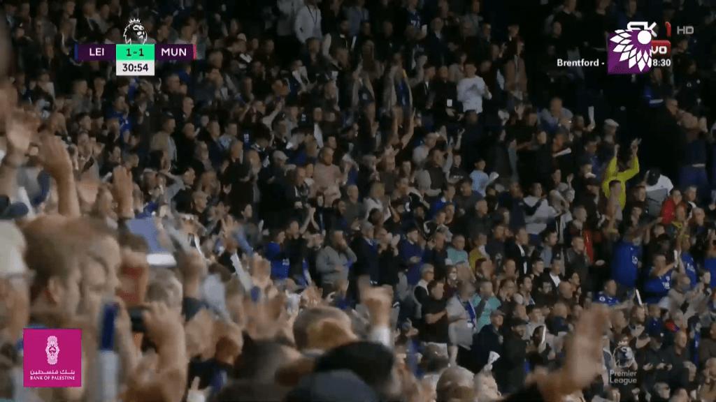 شاهد هدف التعادل (1 – 1) لصالح ليستر سيتي في شباك مانشستر يونايتد