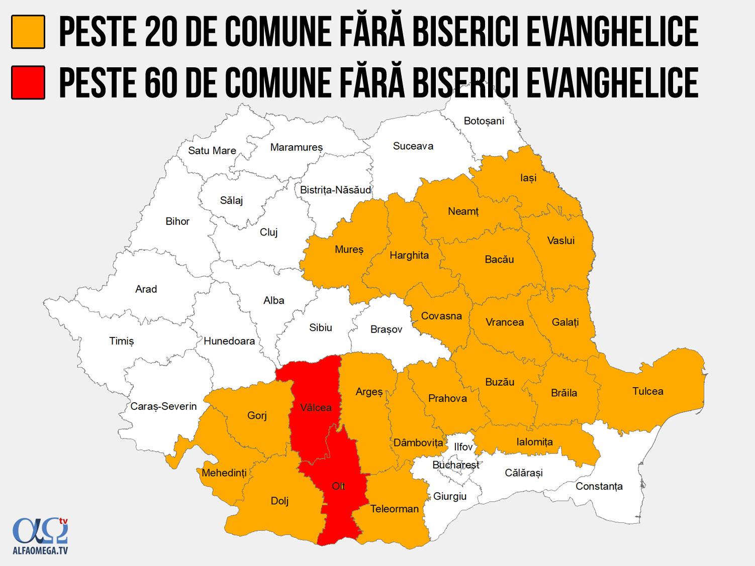 bisericile evanghelice din ro comune fara biserici ev