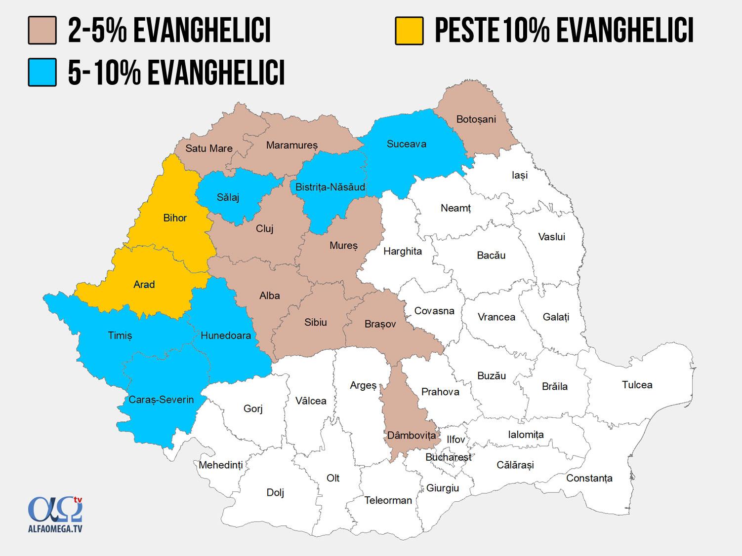 bisericile evanghelice din ro procente