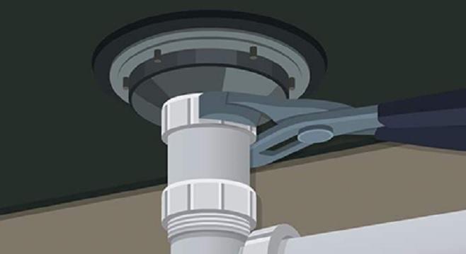 kitchen sink leaking from drain 5 min