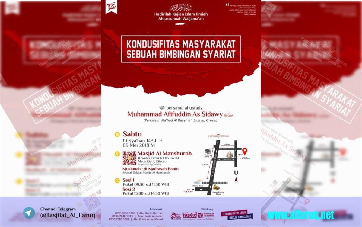 """Audio Kajian Islam Ilmiah Maos """"Kondusifitas Masyarakat Sebuah Bimbingan Syari'at"""""""