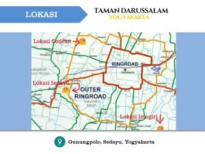Lokasi Perumahan Taman Darussalam Jogjakarta