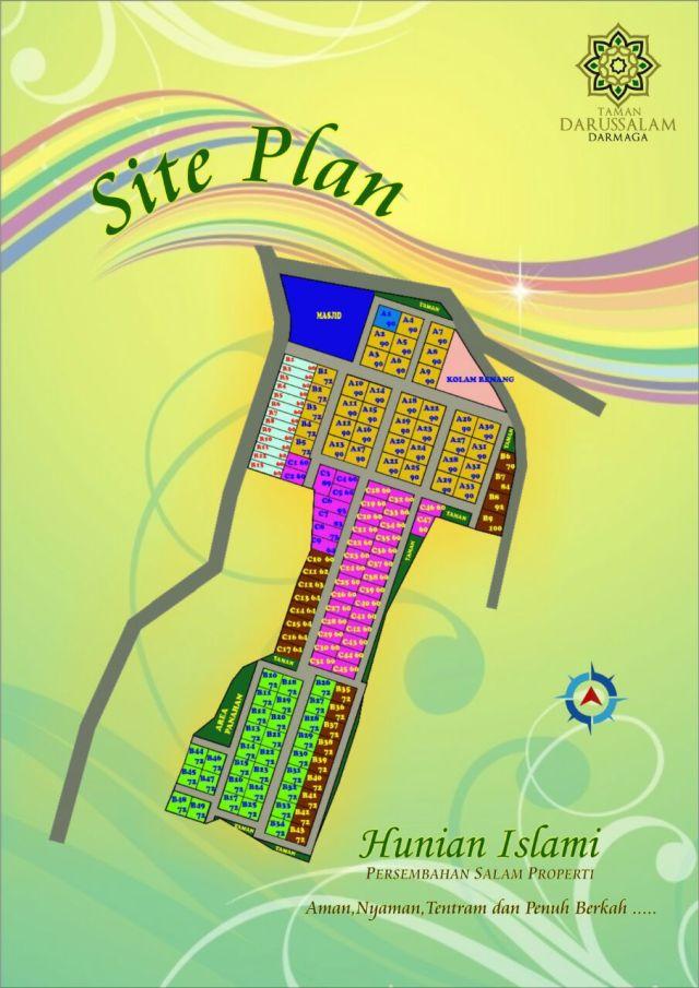 Perumahan Syariah di Bogor TAMAN DARUSSALAM DARMAGA Site Plan