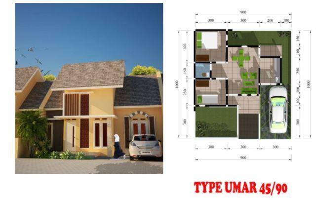 Taman Darussalam Jogja Type Umar 45 90