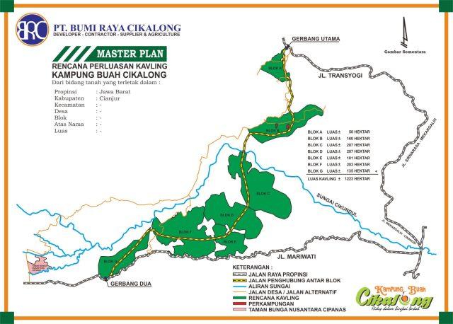 Jual Kavling Murah Kampung Buah Cikalong Cluster Durian Musang King