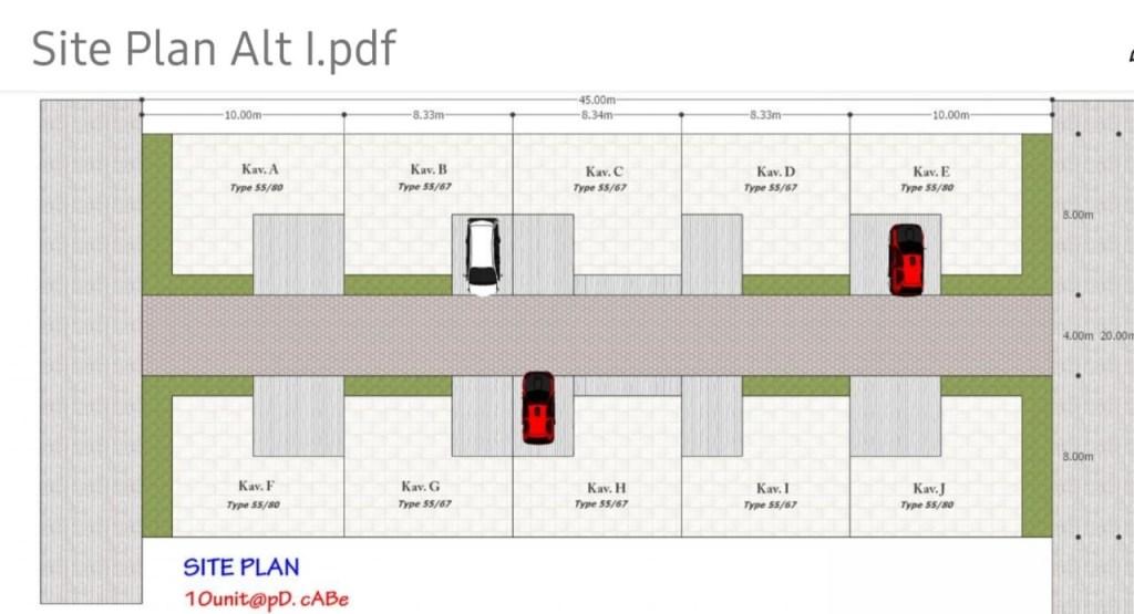 Site plan Perumahan Griya Pesona Pondok Cabe