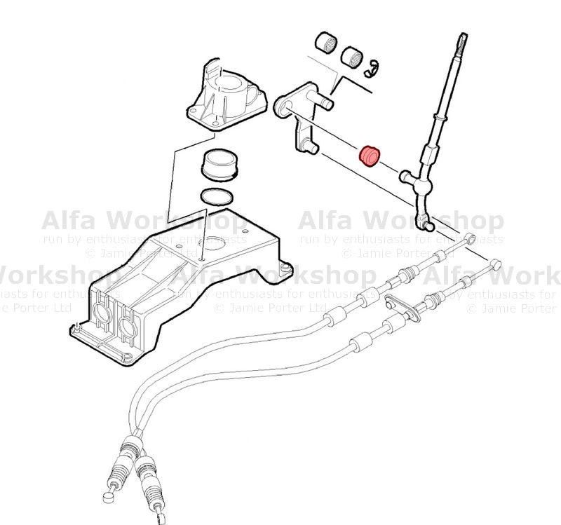 Alfa Romeo 145 Gear lever