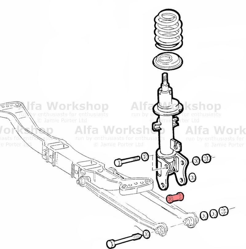 Alfa Romeo 156 Rear Radius Arm