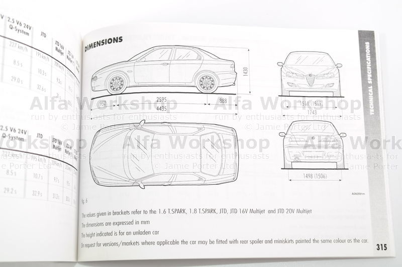 Alfa Romeo 156 Manuals