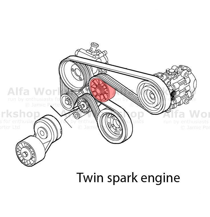 Alfa Romeo 145 Auxiliary tensioner/idler