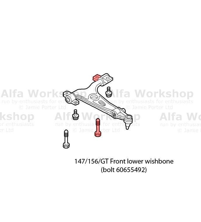 Alfa Romeo 147 Wishbones front
