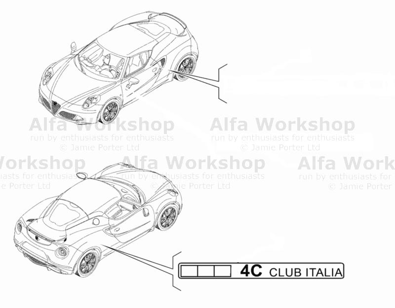 Alfa Romeo 4C Decals