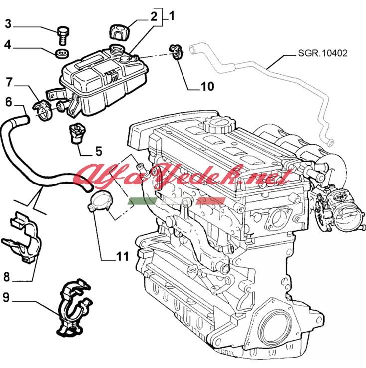 Alfa Romeo 147 Yedek Su Deposu Motor Ara Hortumu
