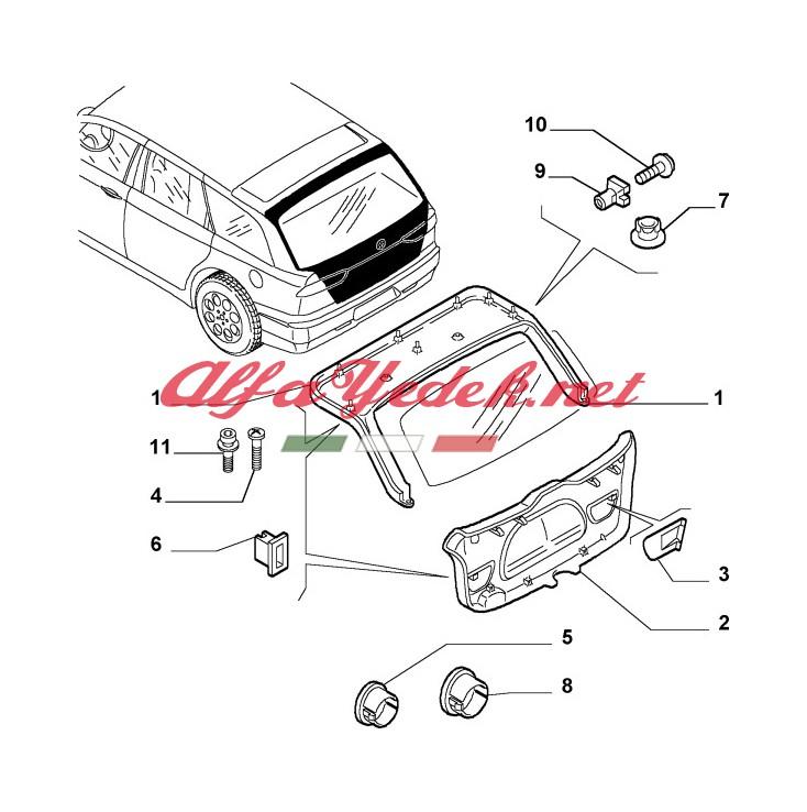 Alfa Romeo 156 Bagaj Kaplaması Kapağı (SportWagon)