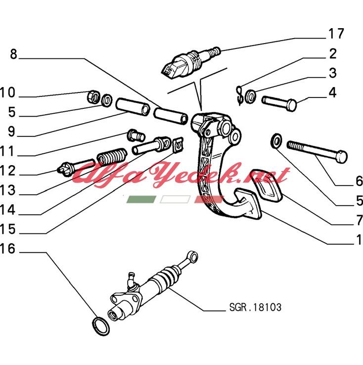 Alfa Romeo 156 Debriyaj Pedal Yayı