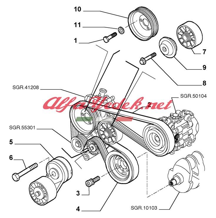 Alfa Romeo 156 V Kayış Seti