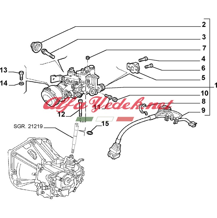 Alfa Romeo 156 SeleSpeed Robot Civatası
