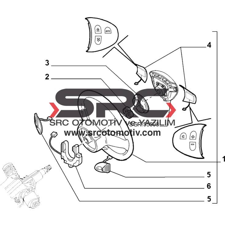 Alfa Romeo 156 Direksiyon Kumanda Tuşları