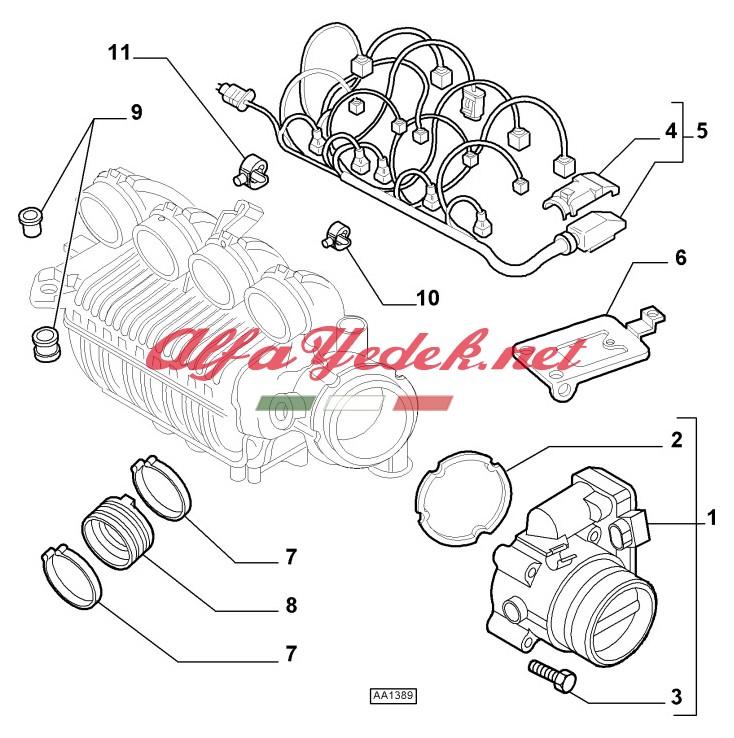 Alfa Romeo 147 Bogaz Kelebek Contası