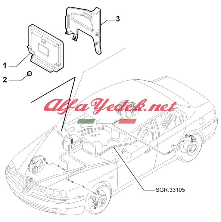 Alfa Romeo 156 SeleSpeed Kontrol Ünitesi