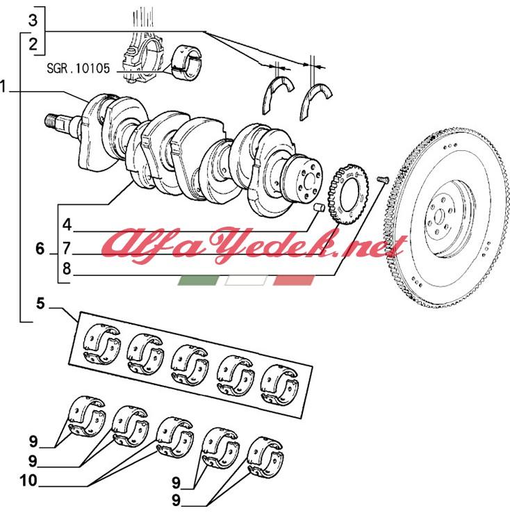 Alfa Romeo 156 TwinSpark Kenar Yatak