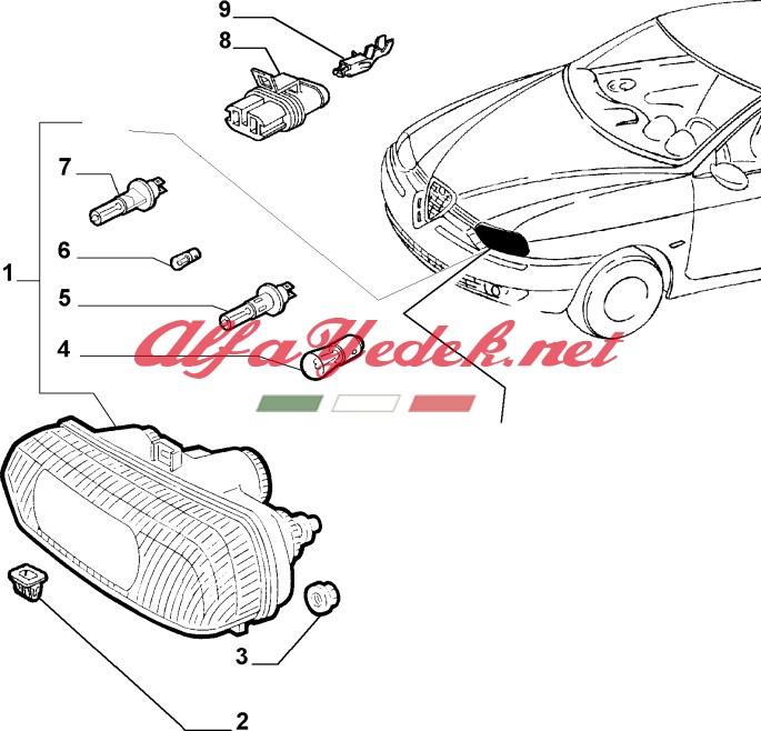 Alfa Romeo 156 Eski Kasa Ön Far