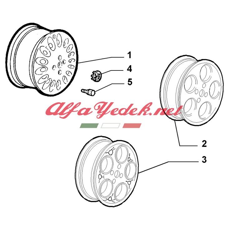 Alfa Romeo 145 Jant Arması